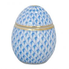 Herend Egg Shaped Bonbonniere - Blue